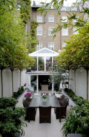 88 best images about small interior courtyards on pinterest for Small townhouse gardens