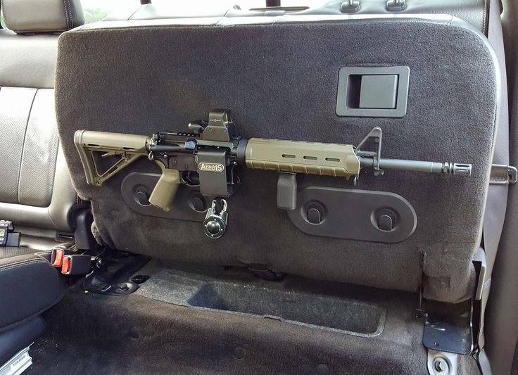 ARmA15 Installed in Truck under Rear Seat AR15 M4 Locking Mount F150