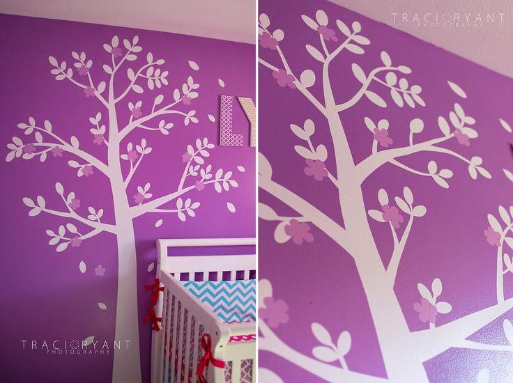 Traci Ryant Photography: Baby Lyla's Nursery   Chevron & Polka Dots Girl's Nursery   Purple, Pink & Turquoise