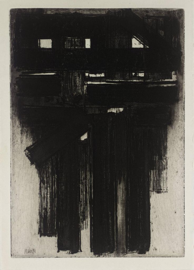 Pierre Soulages, Untitled, 1956