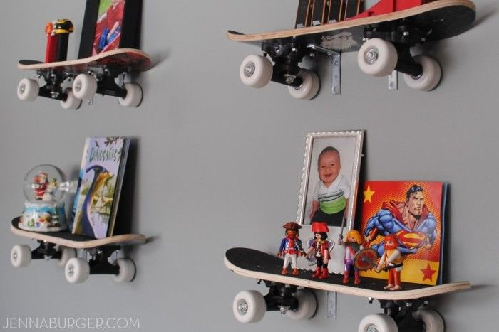 DIY: Skateboard Shelves