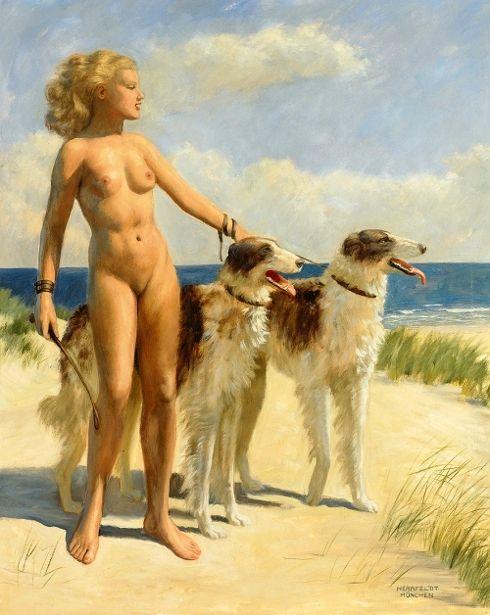 female-nude-with-greyhounds.jpg 490×615 пикс