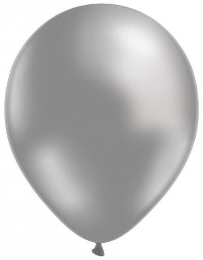 Bolsa con 50 globos metalizados de látex de color Plata. #globos #decoración #balloons