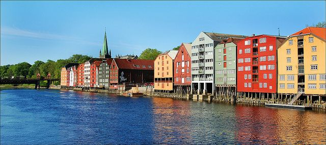 Trondheim, wooden warehouses | Flickr - Photo Sharing!