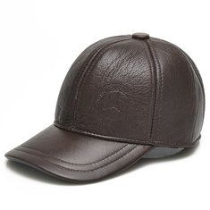 Men Vintage PU Leather Baseball Cap Outdoor Windproof Warm Hats Adjustable Sports Caps - Banggood Mobile