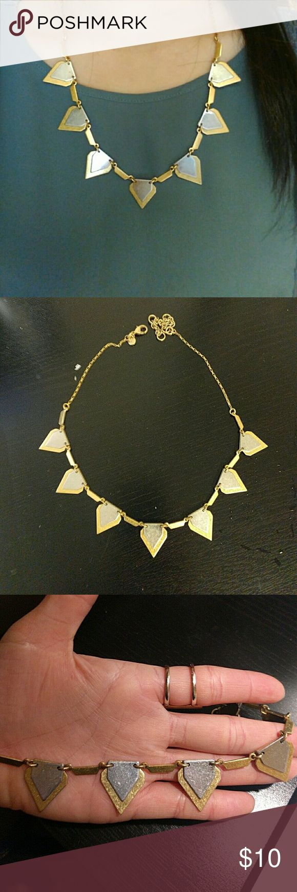 J. Crew Statement Necklace Gold and silver statement necklace from J. Crew. Clasp closure. Worn before but in good condition. J. Crew Jewelry Necklaces