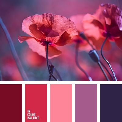 I'm ignoring the two purple shades and focusing on the left 3 shades of red.  Цветовая палитра №1490