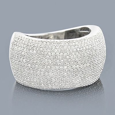 This 14k Gold Micro Pave Diamond Ring Showcases 2 00 Carats Of Round Diamonds Featuring A