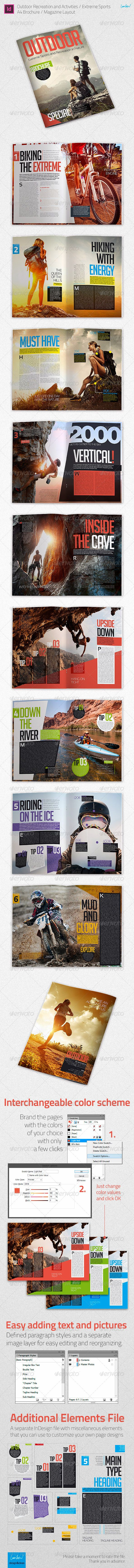 Outdoor Recreation / Extreme Sports - A4 Brochure - Brochures Print Templates