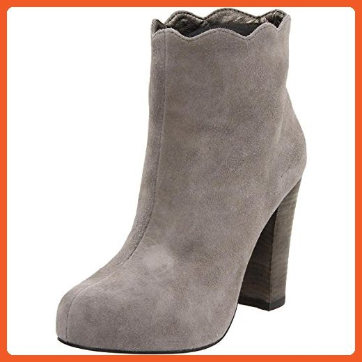Charlotte Ronson Women's Dimphy Scallop Edge Bootie, Steeple Grey, 10 US - Boots for women (*Amazon Partner-Link)
