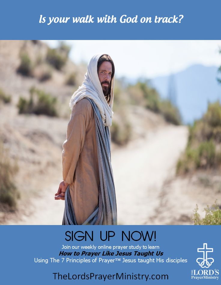 Is your walk with God on track? Join our weekly online Prayer.