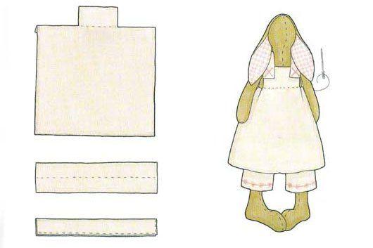 Выкройка одежды для зайцев тильда: мастер-класс по пошиву платья, туники и штанов