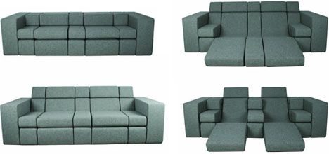 Sometimes people are just too smart! Look at this amazing couch, so many layouts available!