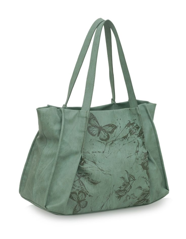 Soar Moly Mintgreen : A mint green nature inspired bag by Baggit.