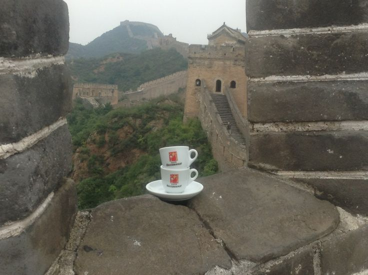 Hausbrandt cups at the Chinese Wall.  Photo by Walter and Erika Kruspel