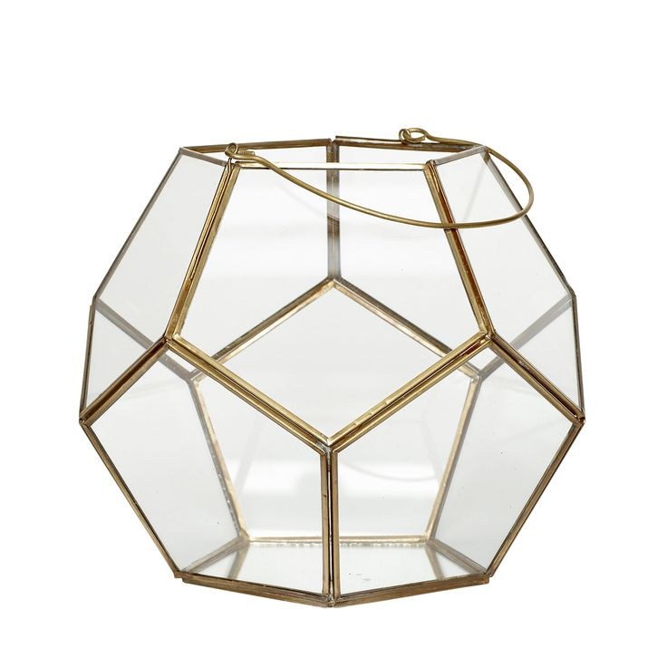 Glass and brass lantern. Product number: 400121 - Designed by Hübsch