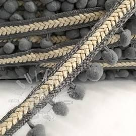 Lemovacia bambuľka Herringbone grey