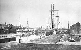 Sailing ships in Port Hope harbour