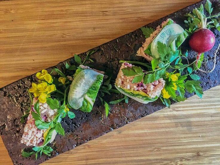 前の日の夜に炊飯ジャーにタイマーセット、野菜を漬けておけば準備完了! 紫とグリーンが春気分全開の「キャベツと柴漬けごはんの押し寿司」の作り方