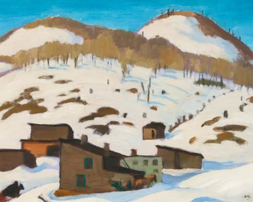 """""""Sketch in Winter,"""" Edwin Headley Holgate, ca. 1938, oil on panel, 8.3 x 10.6"""", private collection."""
