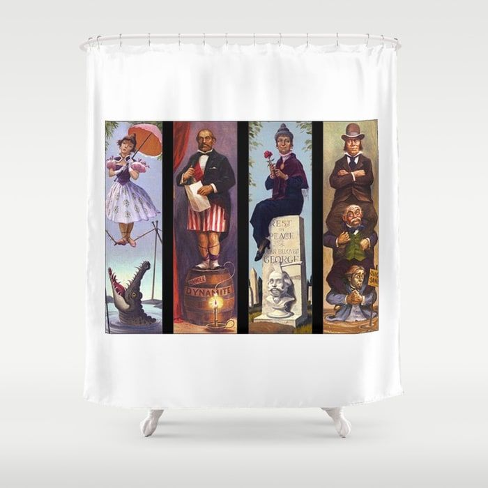 buy haunted mansion shower curtain by