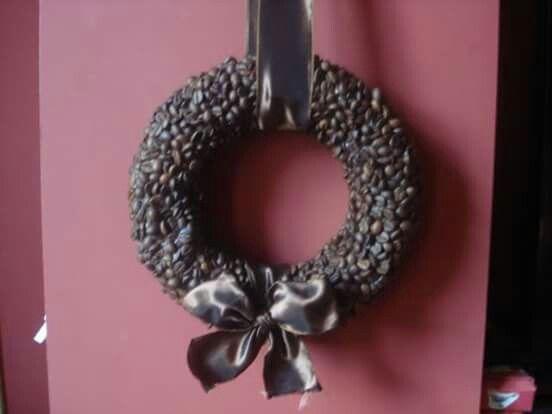 coffee bean wreath