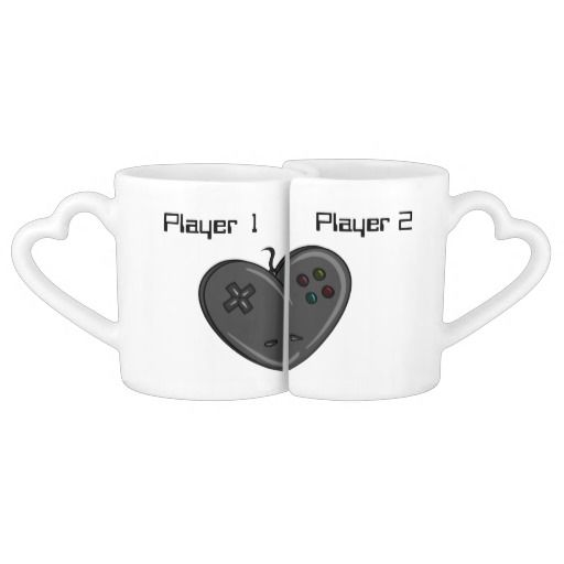 Player 1 & 2 Couple Gamer Heart Couples Mug