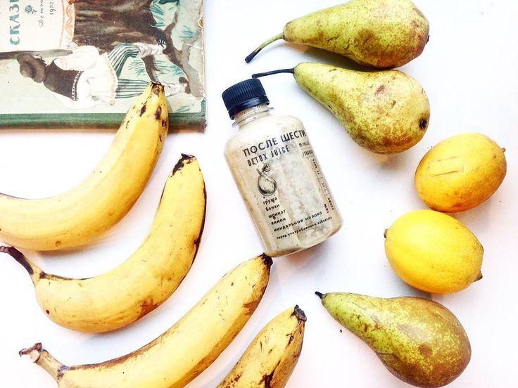 Груши - шпинат - бананы - лимон - миндальное молок - о от @p6detox_vl