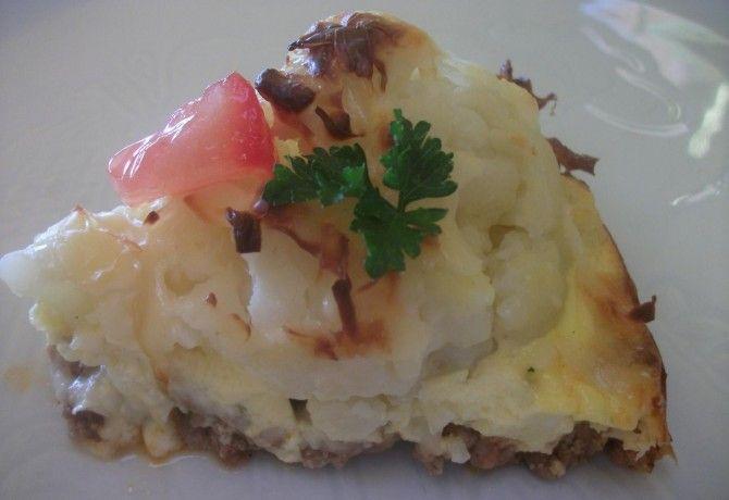 Húsos-sajtos karfioltorta