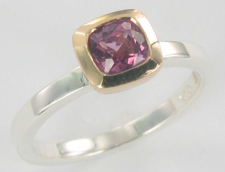 Pink Tourmaline stacking ring