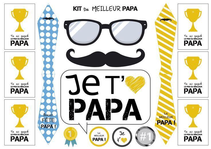 Idée Cadeau Fête Des Mères Original Kit Fête Des Pères à Télécharger à Imprimer Et à Découper Cartes P Mothers Day Crafts Diy Crafts For Kids Fathers Day