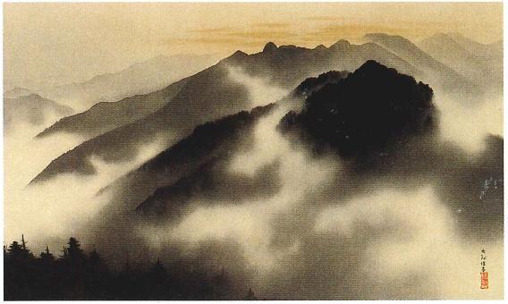 yokoyama taikan * holy peaks of chichibu at spring dawn
