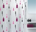 Make-up shower curtain   £ 12.95    Gorgeous girly shower curtain made from PVC-free PEVA designed by Spirella of Switzerland     180cm x 200cm