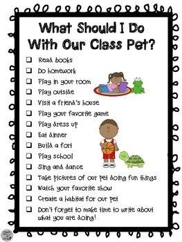 CLASS PET JOURNAL PACKET - TeachersPayTeachers.com