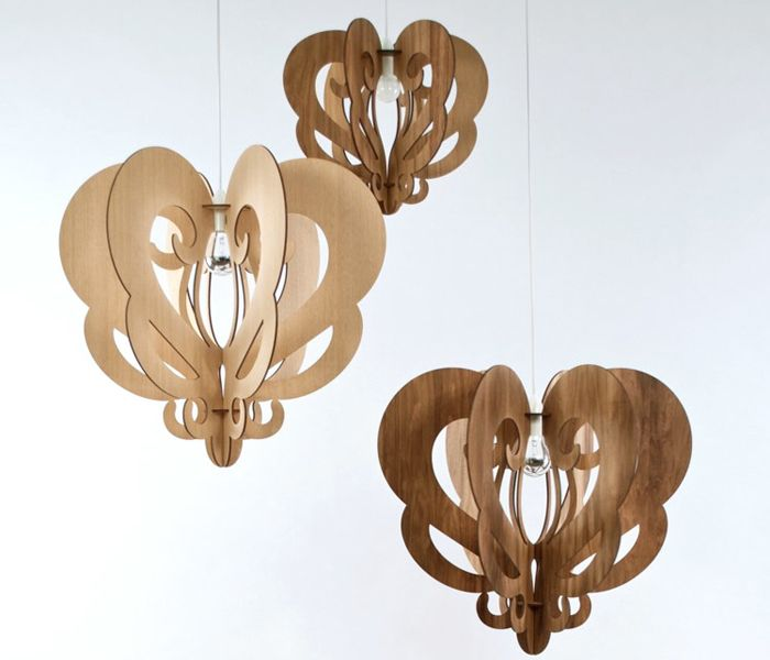 flat-pack pendant lights and lamps by Who Did That #lamps #chandelier