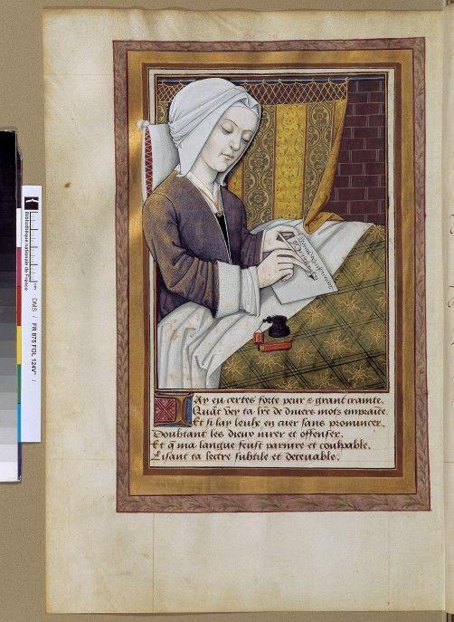 Christine de Pizan (find source) ConsulterElementNum 502×687 pixels