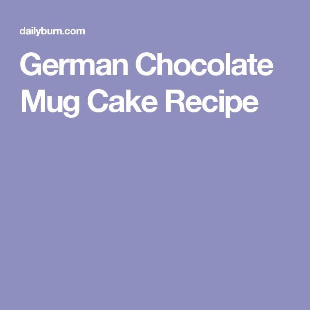 German Chocolate Mug Cake Recipe