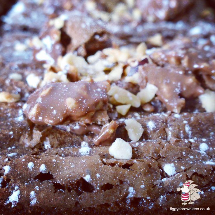 Ferrero Rocher brownies  http://tiggysbrownieco.co.uk/product/ferrero-rocher/ #brownies #chocolate #ferrerorocher #nut #hazelnut #nutella #deliver #Cheshire #bypost