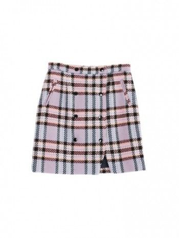 margarin fingers Pink Check Mini Skirt
