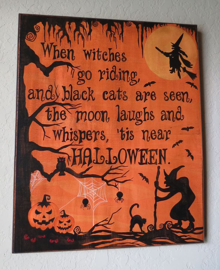 halloween sign this painted sign is a quick and easy way to add some halloween decorations to your home