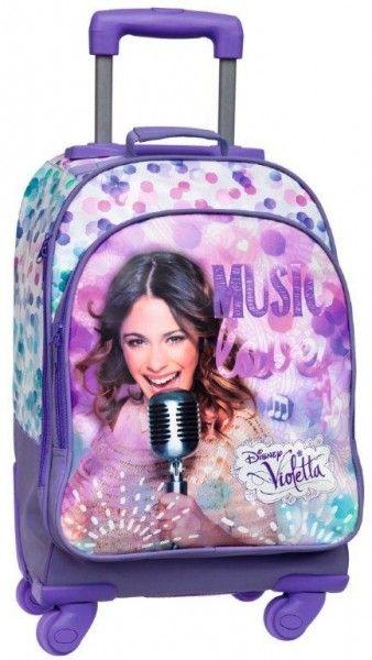 Disney Violetta Zaino Scuola Trollet e Tempo Libero Ragazza, Trolley, Zaini con Rotelle Zaini Scuola e Accessori Disney - TocTocShop.com - I...