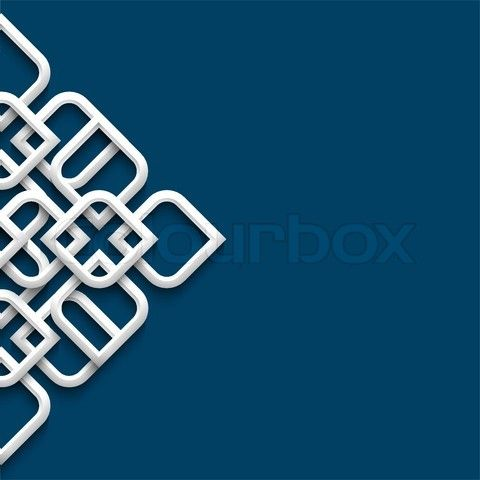 Vector of '3d white ornament in arabic style'