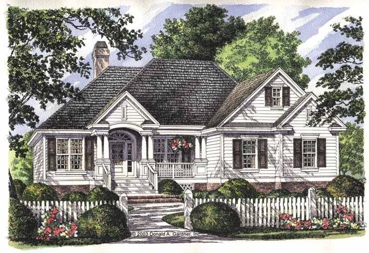 Eplans Country House Plan - Custom-Styled Ceilings - 1547 Square Feet and 3 Bedrooms from Eplans - House Plan Code HWEPL10720