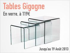 Tables Gigogne en Verre 12mm - SoDezign.com: 119 €