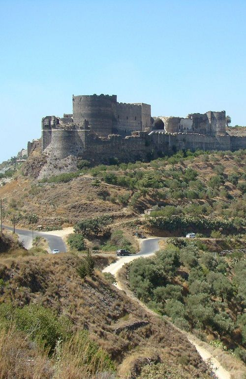 Margat Castle (or Marquab Castle), Ruined Crusader Castle in the area of Baniyas, Syria