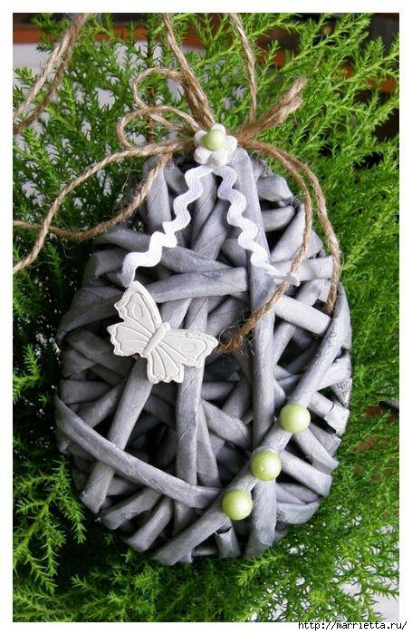 пасхальное плетение из газетных трубочек (48) (455x700, 320Kb)