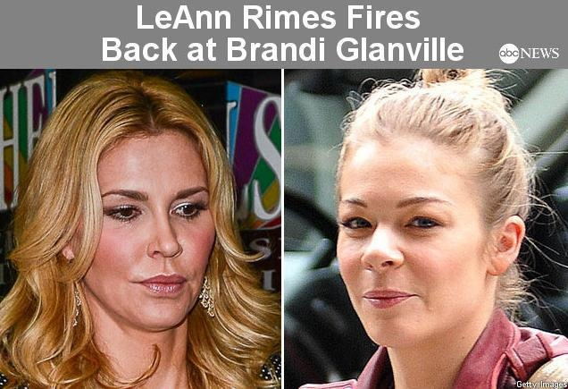 The war of words between LeAnn Rimes and Brandi Glanville first flared on Twitter over the weekend, and now continues. Story: http://abcn.ws/UgRE0n