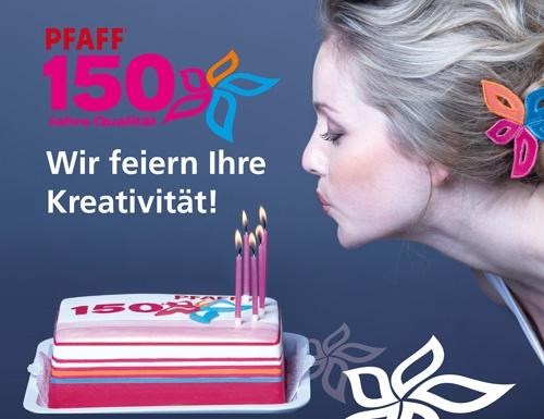 Happy Birthday: 150 Jahre Pfaff & stoffe meyer feiert mit!