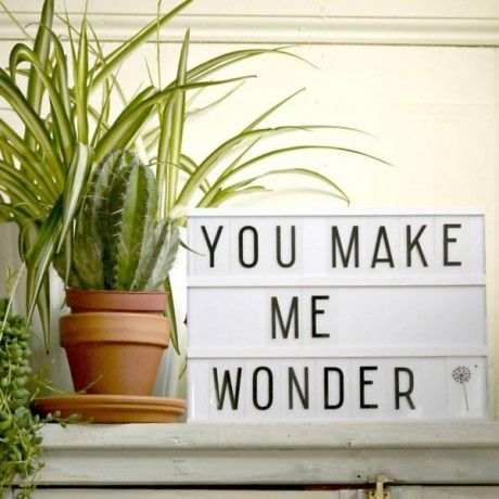 Trouva - I love these light boxes, they are a great addition to any room and adds a different light effect too. I really like this message for my bedroom #TrouvaHandpinnedHomewares