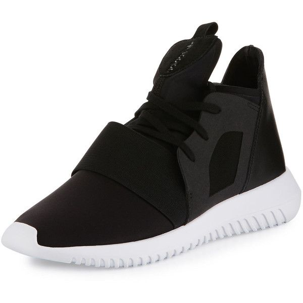 Adidas Tubular Defiant High-Top Sneaker (2.497.440 VND) ❤ liked on Polyvore featuring shoes, sneakers, black, adidas trainers, lace up shoes, black hi top sneakers, black lace up sneakers and black lace up shoes